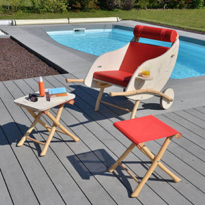 brouette feuille terrasse piscine garden k