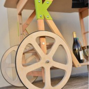 KOUKAPLANCHA-DESSERTE D'EXTERIEUR-TABLE A PLANCHA-GARDEN K-DESSERTE EN BOIS-ROUES EN BOIS-