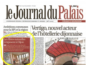 le journal du palais dijon parle de garden k