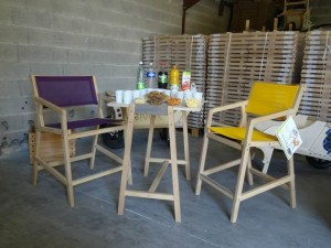 GARDEN K - FAUTEUILS HAUTS - TABLE HAUTE - OUTDOOR - INDOOR