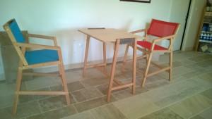 FAUTEUIL HAUT-CHAISE-TABLE-MOBILIER JARDIN-SALON JARDIN-BOIS-NATUREL-GARDEN K