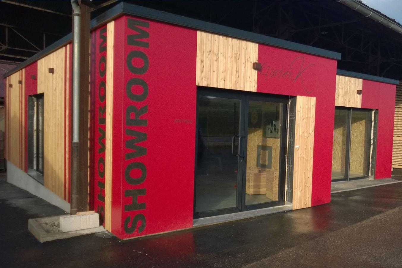 nouveaute un showroom pour exposer nos produits garden k garden k. Black Bedroom Furniture Sets. Home Design Ideas