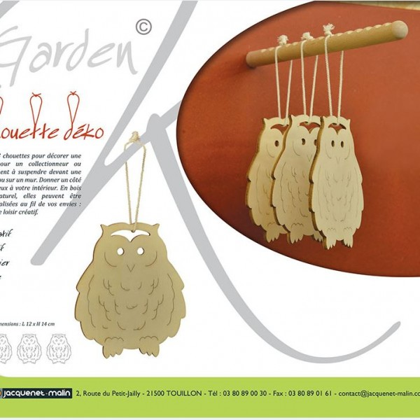 CHOUETTE DECO-GARDEN K-SUSPENSION-DECORATION-POULE-