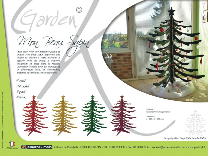 GARDEN K-SAPIN BOIS-NATUREL-DECORATIF
