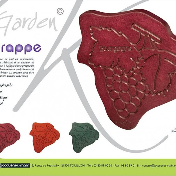 DESSOUS DE PLAT-GRAPPE DE RAISIN-GARDEN K-ORIGINAL
