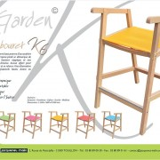 TABOURET HAUT-GARDEN K-BOIS-BATYLINE-CHAISE HAUTE