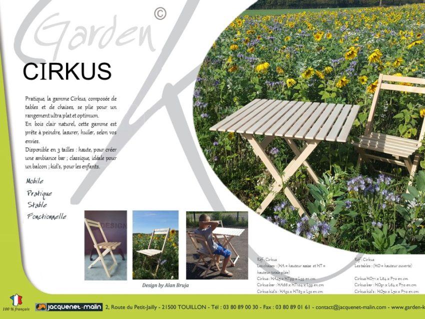 Mobilier Convivial tendance et français Garden K