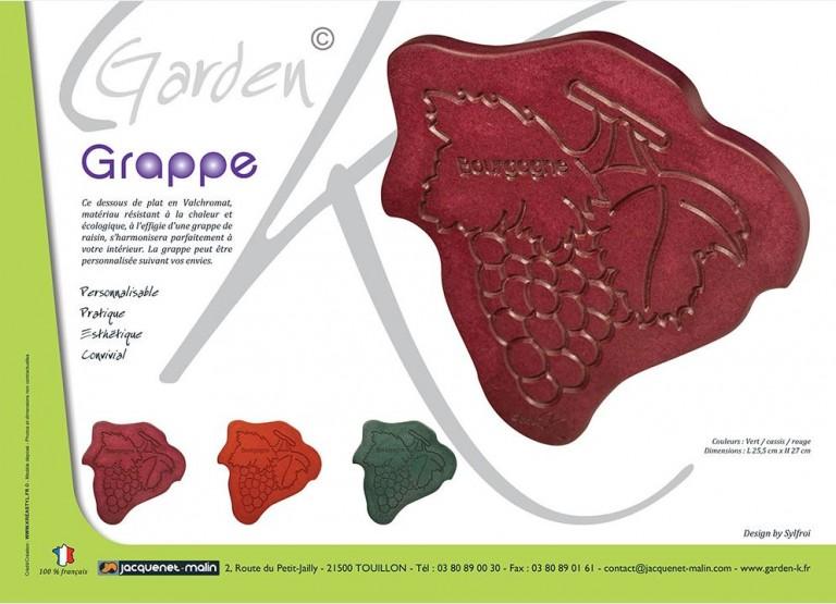 DESSOUS DE PLAT-GRAPPE DE RAISIN-GARDEN K-ORIGINAL