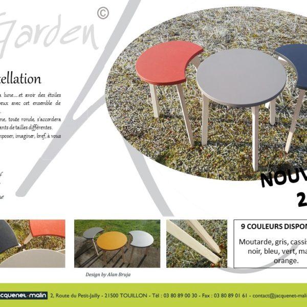 TABLES BASSES RONDES DESIGN-TABLE RONDE-TABLE DE SALON-LUNE-CROISSANTS DE LUNE-COMBINABLE-DESIGN-FRANCAIS-GARDEN K